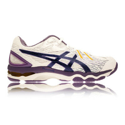 ASICS GEL-NETBURNER Super 6 Womens White Netball Squash Sports Shoes Trainers
