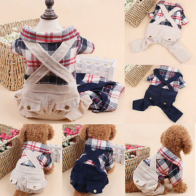 Costume Dog Warm Winter Clothes Pet Jacket Coat Puppy Cat Apparel Jumpsuit Pants