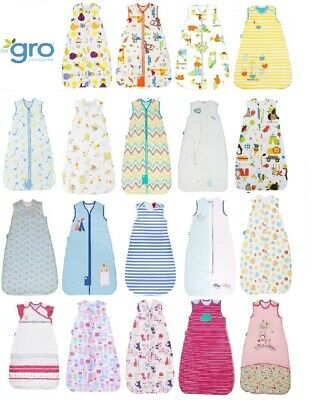 Grobag baby sleeping bag 0 - 6, 6 - 18 or 18-36 months 1.0 tog various designs 1