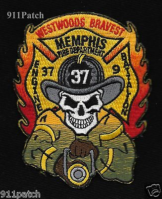 Memphis, TN - Engine 37 BTN 9 Westwoods Bravest FIREFIGHTER Patch Fire Dept.