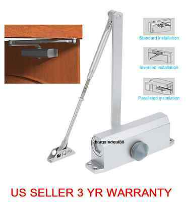 T90 25-45KG Aluminum Commercial Door Closer Two Independent Valves Control Sweep