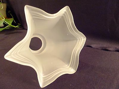 "Ruffle Satin Frosted Glass Lamp Light Replacement Shade 2.25"" Fitter"