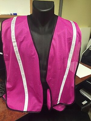 """Pink Safety Vest with 3/4"""" Reflective Striping"""