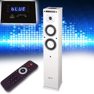 Music Box Speaker USB SD Bluetooth Hi-Fi compact system home theater white Audio
