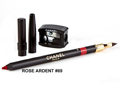 Chanel Le Crayon Levres Lip Definer Pink Red Lipliner Pencil - Rose Ardent 69