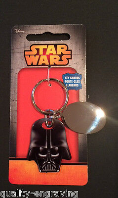 Personalised Official Star Wars Darth Vader Dark Side Key Ring -  Free Engraving