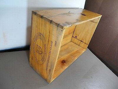 "VINTAGE 2007  WINE CRATE BOX CASE-""WINE CELLAR""-ORIGINAL Chateau Pavie Macquin"