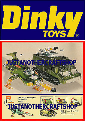 Dinky Toys 351 353 UFO Interceptor Shado Large Size Poster Advert Leaflet Sign