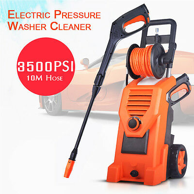 3200W High Pressure Water Cleaner Electric Washer Spray Gun Outlet Hose Gurney