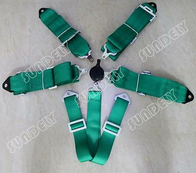 """Racing Seat Harness Belt Quick Release 3"""" Inch 4 5 6 Point Eye Bolts (Green)"""