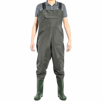 Pvc Chest Waders No Belt - Sizes 8 - 11 Waterproof Fly Coarse Fishing