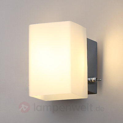 led wandleuchte olivier glasschirm schalter wandlampe schlafzimmer lampenwelt eur 19 90. Black Bedroom Furniture Sets. Home Design Ideas