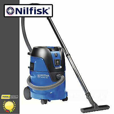 Nilfisk Aero 26-21PC Wet & Dry Vacuum 1250w 240v Extractor Power take off 2018