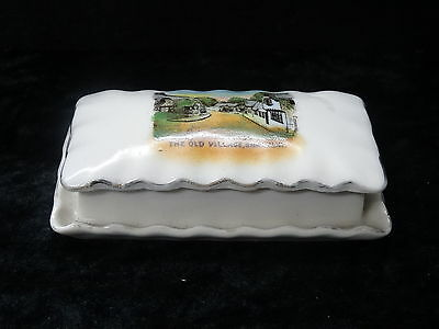 Gemma China Model of a Trinket Box & Lid - Views of the Old Village Shanklin