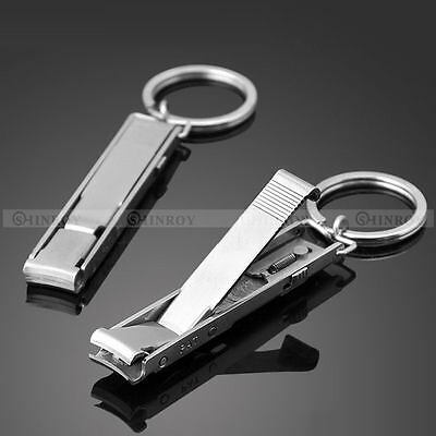 Ultra Slim Small Foldable Stainless Steel Nail Clippers Keychain EDC Pocket Tool