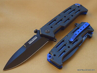 Tacforce Assisted Open Knife With Pocket Clip *Razor Sharp* Edge