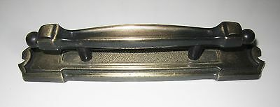 "VINTAGE ANTIQUE BRASS DOOR/DRAWER  PULL & BACKPLATE 3"" Centers"