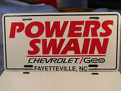 vintage fayetteville nc powers swain chevy original dealer license. Cars Review. Best American Auto & Cars Review