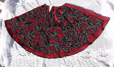 "French Victorian Silk Velvet & Wool Vintage Women's Cape Fabric~27""LX1yd31""W"