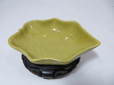 Collectible Chinese porcelain ge type yellow brush washer