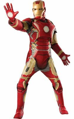Licensed Avengers Deluxe Iron Man Adult Mens Fancy Dress Halloween Costume