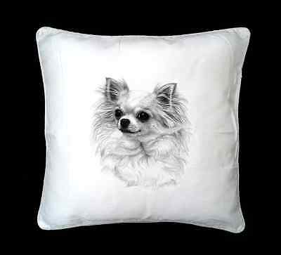 Chihuahua Dog Printed Design Faux Silk/Suede Cushion Cover by paws2print