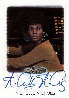 Women Star Trek 2010 Nichelle Nichols as Lt. Uhura Auto Card