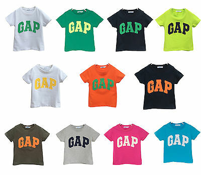 New Boys Girls Unisex Short Sleeve Baby gap T-shirt Top Tee 11 Colors 2.3.4.5.6Y