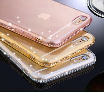 Luxury Ultra Thin Crystal Diamond Bling Gel Case Cover for iPhone 6 7 & Samsung
