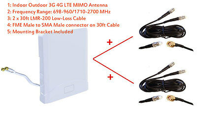 3G 4G LTE Indoor Outdoor Omni MIMO Antenna for ZTE MF275 MF275R Bell Turbo Hub