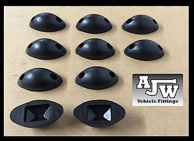 10 X Rubber Mouse Buffer Oval Black Truck Trailer Horsebox Tipper Tail Board