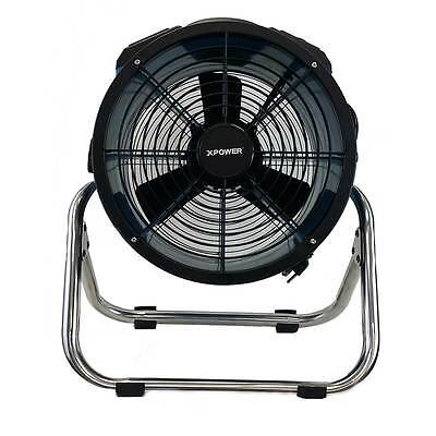 XPOWER X-34ASR Industrial Sealed Motor Axial Fan+ Power Outlets & Stainless Rack