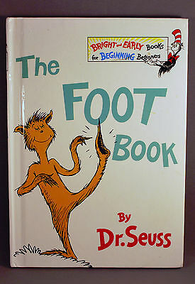 THE FOOT BOOK Dr. Seuss NEW Beginner BOOK Suess LEARNING Beginning READ Rhyme