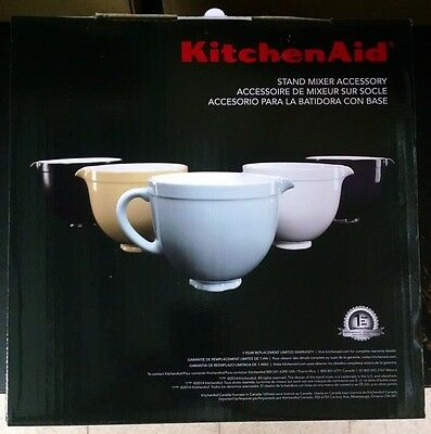 NEW KitchenAid KSMCB5LW 5-Qt. Tilt-Head Ceramic Bowl - White Chocolate