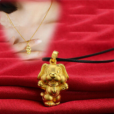 Newfangled 3D Gold Plated Chinese 12 Zodiac Necklace Adorable Birthday Gift