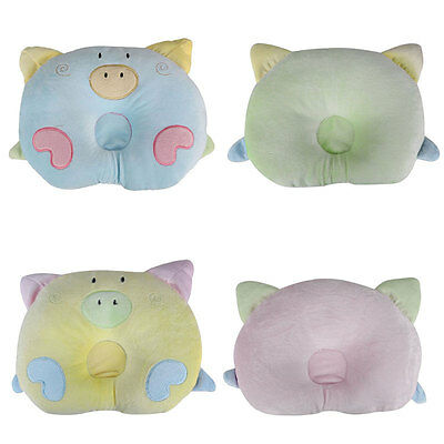 Newborn Baby Infant Round Pillow Sleeping Support Prevent Flat Head Cushion Soft