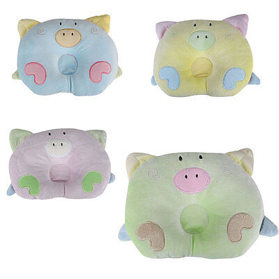 Baby Infant Toddler Soft Cotton Bedding Prevent Flat Head Support Pillow Cushion