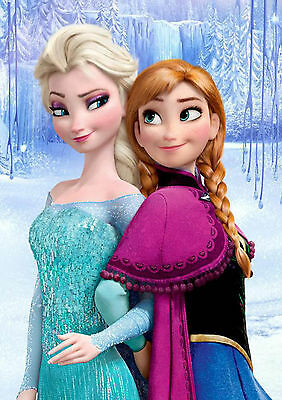 Sticker Autocollant Poster A4  Disney La Reine Des Neiges.snow Queen.elsa & Anna