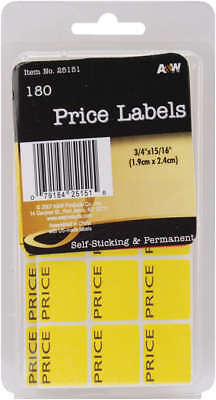 "Labels Price .75""X.9375"" 180/Pkg AW251-51"