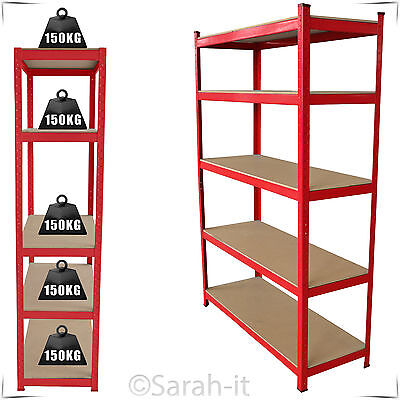 5 Tier Heavy Duty Warehouse Shelving Racking Boltless Garage Metal Storage Shelf