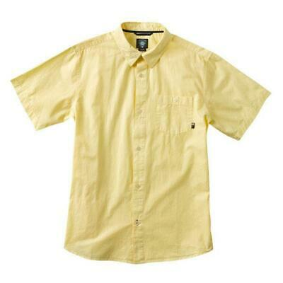 Fourstar Clothing Overdye Short Sleeve Shirt Washed Yellow