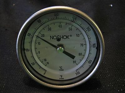 NoShok Temperature Gauge 0-200 F Degree *FREE SHIPPING*
