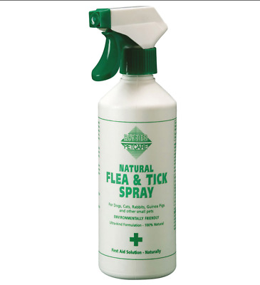 Barrier Natural Flea & Tick Spray FIRST AID SOLUTION NATURALLY DOG CAT SM ANIMAL