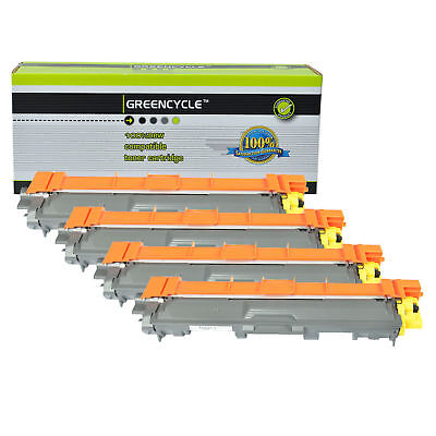 4PK TN221 YL TN-221 Yellow Toner Cartridge For Brother MFC-9130CW HL-3140CW