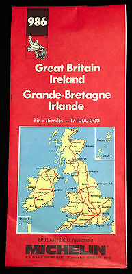 "Map of Great Britain and Ireland, Michelin #986, Scale 1""=16 miles / 1:1,000,000"
