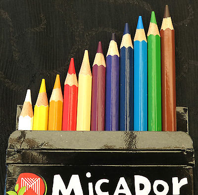Micador ColouRush Colour Pencils 12 Pack Perfect for use in adult colouring book