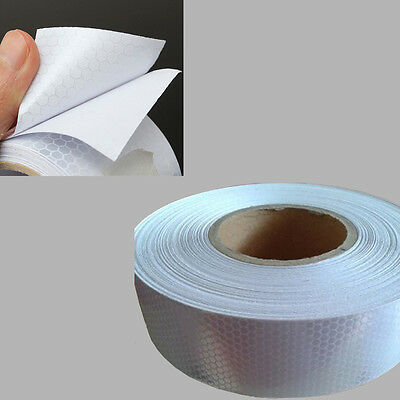5CM wide Silver White Reflective Safety Warning Conspicuity Tape Film Sticker