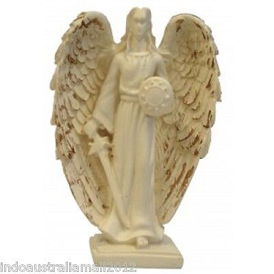 "Brand New  Archangel Michael Statue Figurine Ivory color 93mm or 3.8""(AG012)"