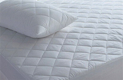 Quilted 100% Cotton Filled- Fitted Skirt Mattress Protectors