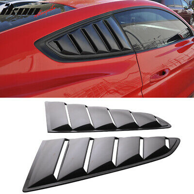 Fits 15-18 Ford Mustang OE Style Side Black Window Louvers